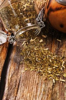 Thé infusible sur bois