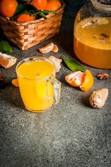 Thé à la mandarine et au gingembre