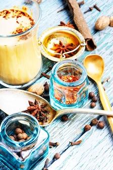 Thé masala aux épices