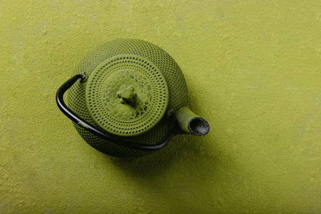 Thé matcha, vue de dessus
