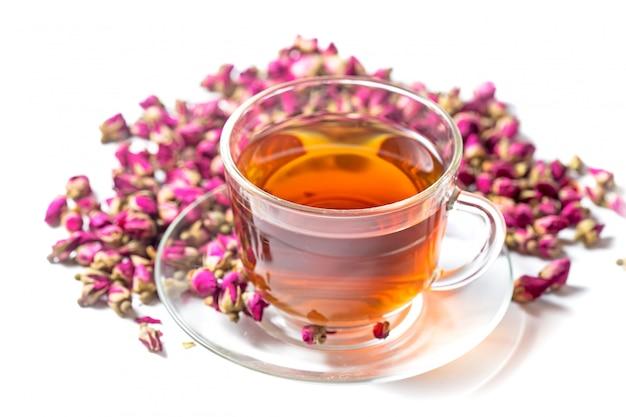 Thé avec des roses