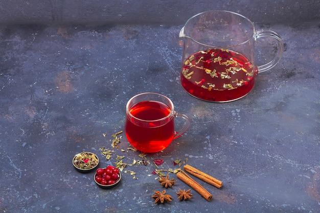 Thé rouge, rooibos, hibiscus, karkade