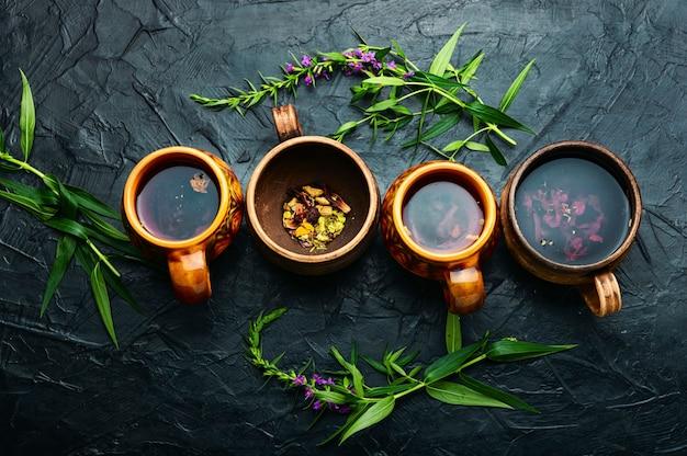 Thé thérapeutique à l'épilobe, herbe de saule fraîche