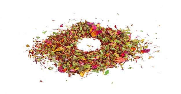 Thé vert aux fleurs séchées