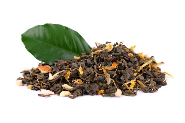 Thé vert de ceylan aux fleurs séchées et orange confite