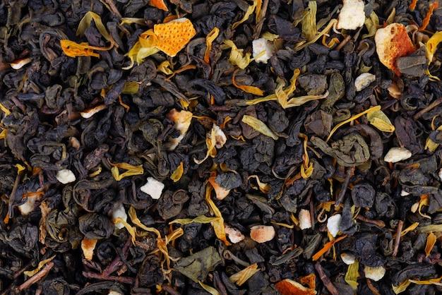 Thé vert de ceylan aux fleurs séchées