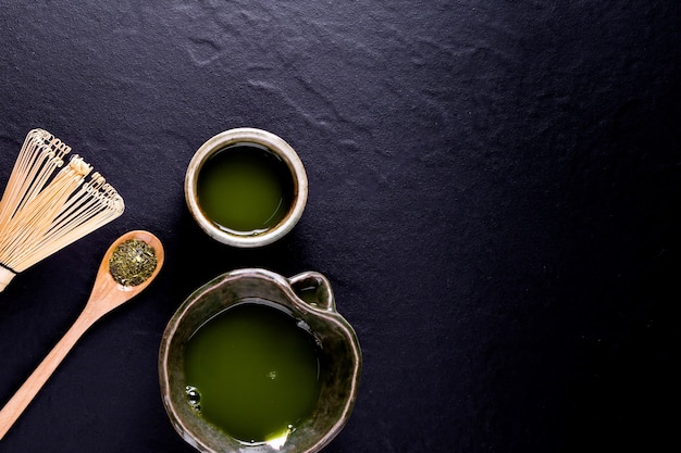 Thé vert matcha bio en bol