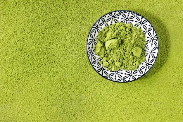 Thé vert matcha en poudre