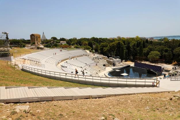 Théâtre grec antique de syracuse en sicile