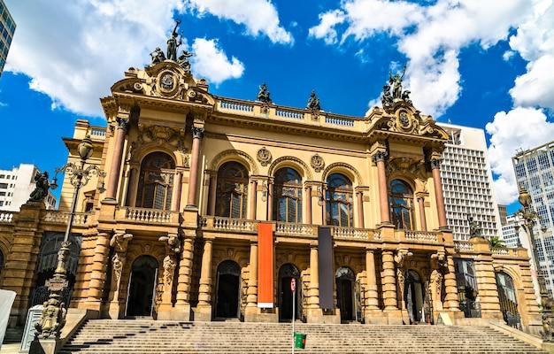 Le théâtre municipal de sao paulo, brésil