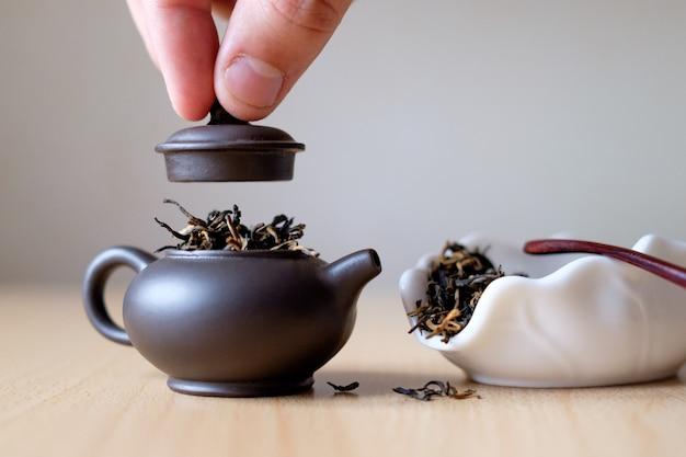 Théière et boîte à thé