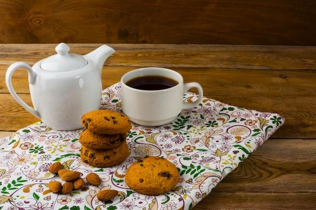 Théière et tasse de thé