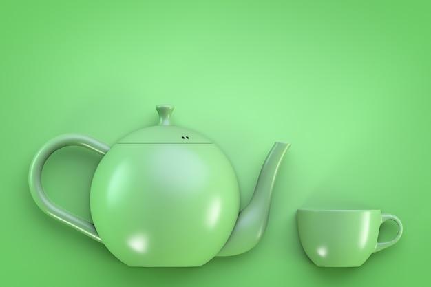 Thème de la boisson chaude. théière et tasse.