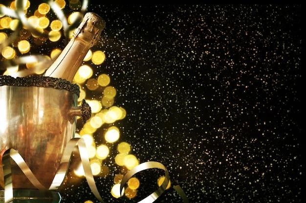 Thème de célébration avec champagne nature morte