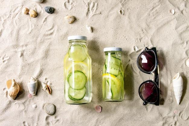 Thème de l'été sur le sable