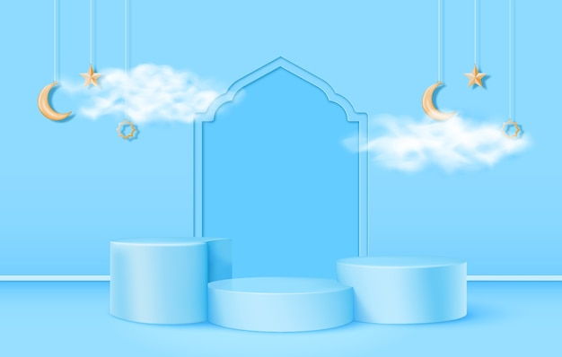 Thème islamique podium 3d
