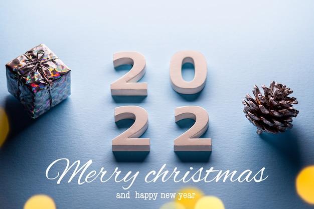 Thème joyeux noël 2022bonne année 2022chiffres 2022joyeux noël et bonne année 2022