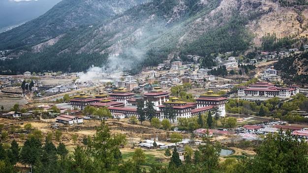 Thimphu ciudad capitale du pays de la vallée du bhoutan