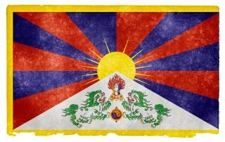 Tibet tibétain grunge flag