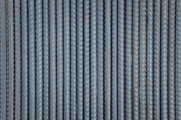 Tiges d'acier fond et texturé