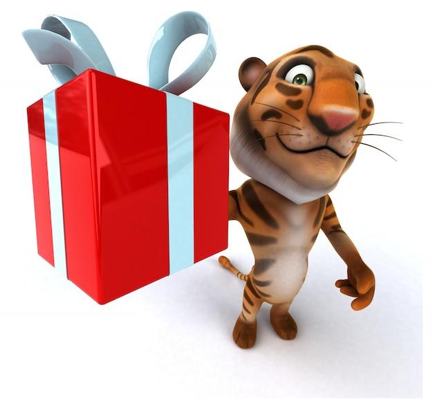 Tigre amusant
