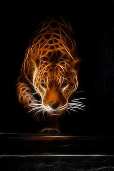 Tigre dans l'obscurité