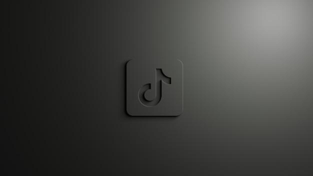 Tik tok logo de médias sociaux monochromatique