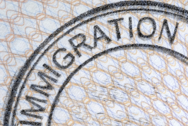 Timbre d'immigration de passeport