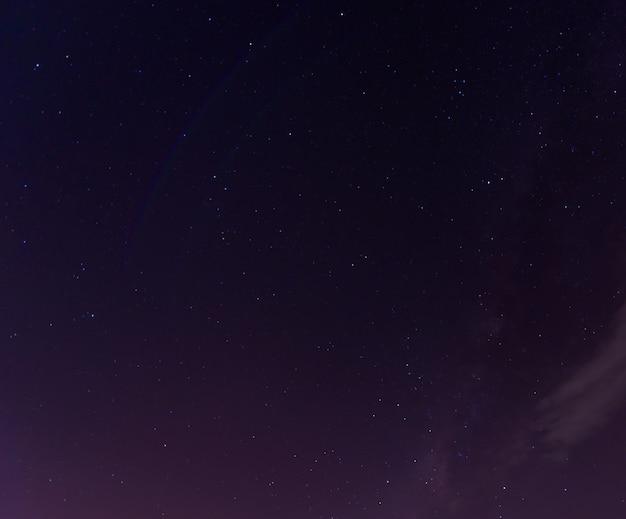 Tir coloré montrant la voie lactée de l'univers
