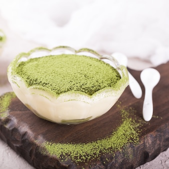 Tiramisu au thé vert matcha
