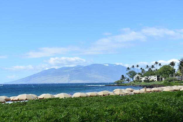 Tiré de la nature pittoresque de l'île de maui, îles hawaïennes