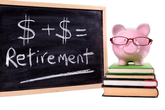 Tirelire avec calcul de la retraite