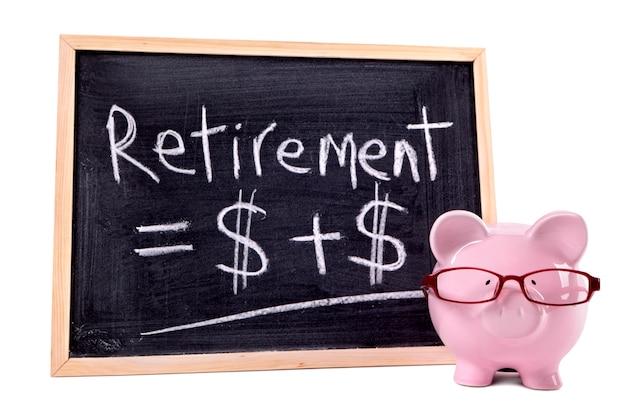Tirelire avec formule de retraite