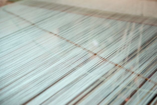 Tissage de soie méticuleux vintage gros plan