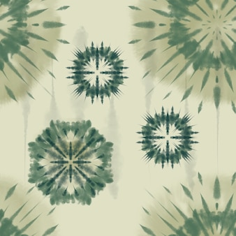 Tissu artistique tie dye motif rayé sur fond encre spirale bohème