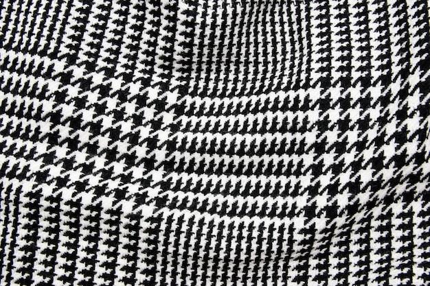 Tissu cage noir et blanc ou textile tissu.