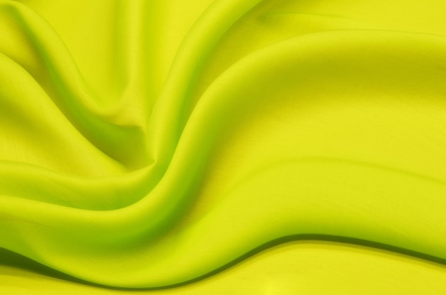 Tissu en coton batiste couleur vert vif