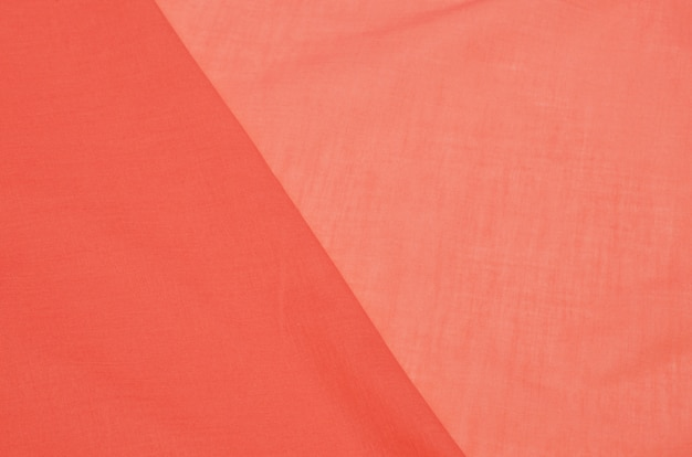 Tissu en coton batiste saumon