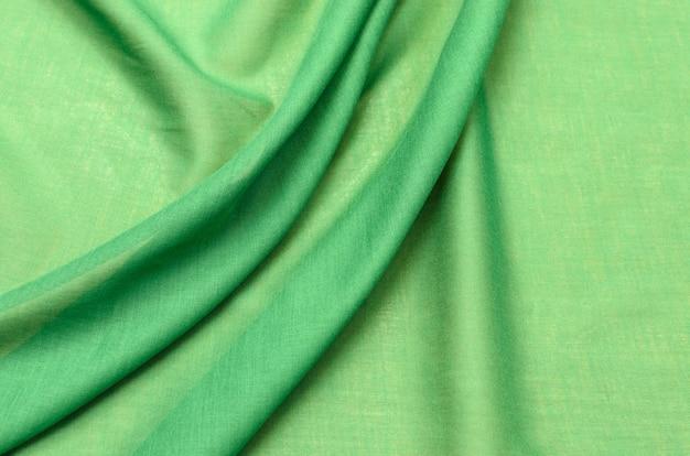 Tissu en coton vert cambrique