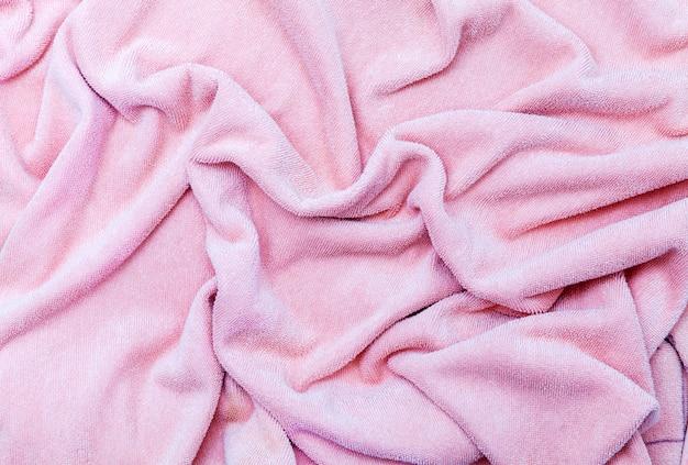 Tissu de couleur douce en soie ou texture de vêtements