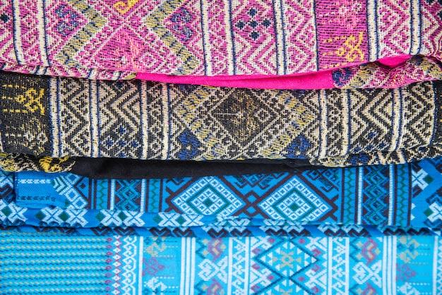 Tissu culturel de la thaïlande magnifique