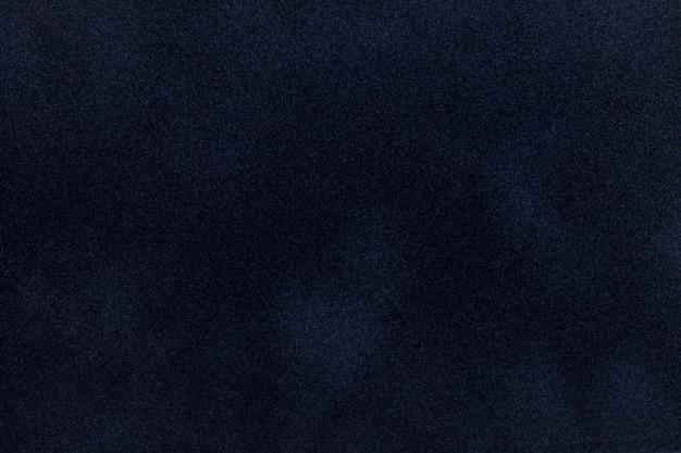 Tissu en daim bleu foncé avec texture velours