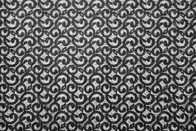 Tissu en dentelle noire transparente