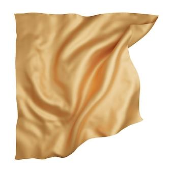 Tissu doré isolé sur fond blanc rendu 3d