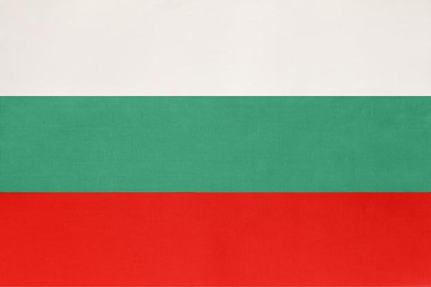 Tissu de drapeau national de bulgarie