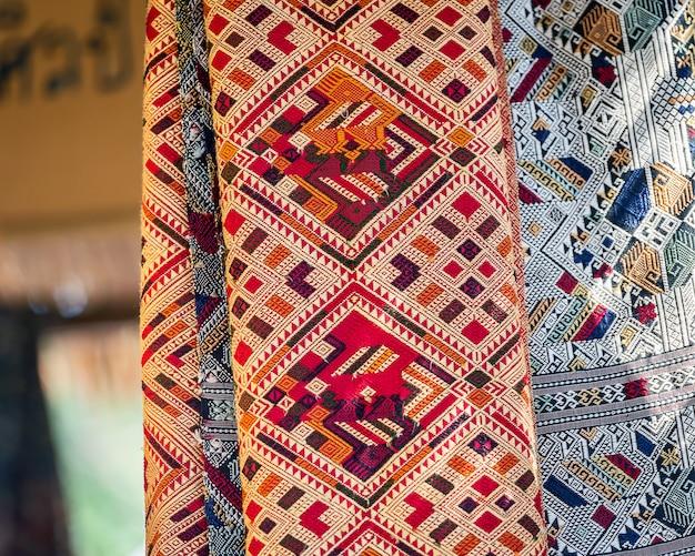 Tissu indigène thaïlandais.
