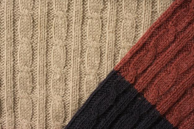 Tissu de laine à l'aiguille très détaillé, gros fond de texture de laine