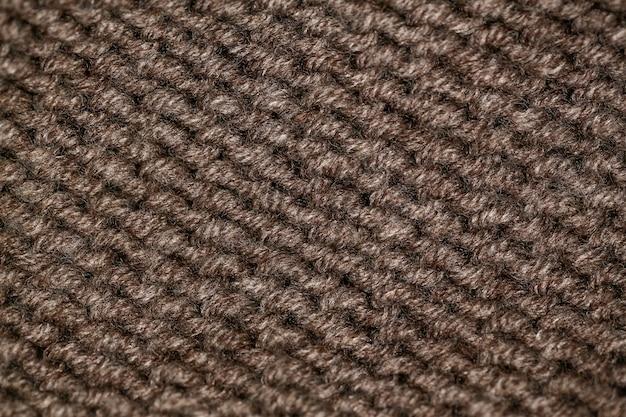 Tissu de laine marron