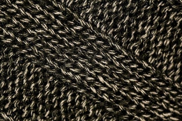 Tissu de laine noir