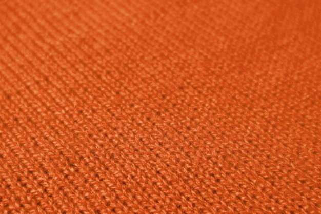 Tissu de laine tricoté alpaga de couleur orange foncé